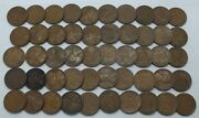 Coin Roll 1936-d Lincoln Wheat Cents Penny 50-pennies Lot Set Collection - Le158