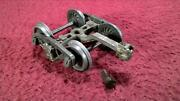 2 Lionel Pre War Scale 714t-3 715 716 717 Whirly Wheel Freight Truck And Cplr