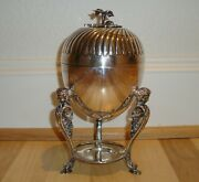 Antique English Victorian Epns Silverplate Atkin Brothers Figural 9 Egg Coddler