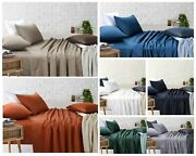 Single Bed Flat Fitted Bed Sheets Pillowcases Bedding Set White Blue Black Grey
