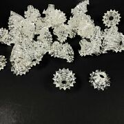 Vintage Starburst Atomic Star Christmas Light Covers Reflectors Clear Lot Of 40