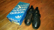Adidas Officiel 80and039s Noir Made In France Dead Stock Us8 Eu42 Uk8 Taille W /