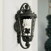 Vintage Outdoor Wall Light Fixture Textured Black 36 For Exterior Porch Patio