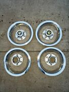 New Aftermarket Chevrolet Chevy Truck 5 Lug 15 Rally Wheel Rings And Caps