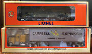 Lionel 6-52147 1998 St Louis Lrrc Campbell Express Flatcar W/ Tractor And Trailer