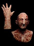 2 Pc. Combo Deal Freddy Inferno Vs. Silicone Krueger Mask And Hand By Wfx