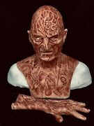 2 Pc. Combo Deal Wfx Freddy Inferno Part 4 2.0 Silicone Mask And Hand