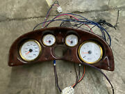 Marine Boat Dashboard Switch Panel With 4 Instrument Gauges