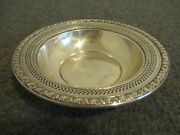 Wallace Sterling Silver 268-3 Bowl Candy Dish Poppy Floral Trim And Pierced 79g