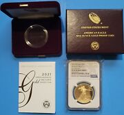2021 W 1 Oz Proof Gold Eagle Ngc Pf69 - Type 1- First Release