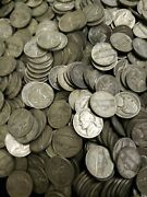 1942-1945 Pds Jefferson War Nickel Roll 35 Silver 40 Coins Circulated Free Ship