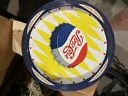 Vintage Pepsi Cola Tin Metal Tray From 50's Dual Side