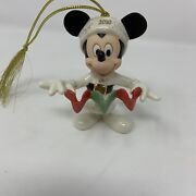 Lenox Christmas Annual Mickeyand039s Tree Trimming Ornament Collectible 2010 Hearts