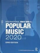 International Who's Who In Popular Music 2020 9780367440060   Brand New