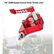 7/822mm Universal Thumb Throttle Assembly Speed Control Lever For Honda Suzuki