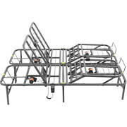 14 Full Size Dual Adjustable Steel Bed Frame With Under-bed Storage