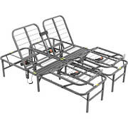14 Queen Size Dual Adjustable Steel Bed Frame With Under-bed Storage