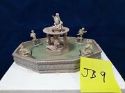Lemax Lighted Village Square Fountain 14663 As Is Jb9