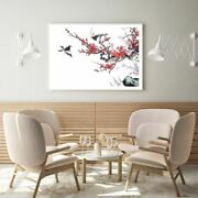 Birds And Flower Tree Painting Print Premium Poster High Quality Choose Sizes