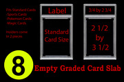 8 New Professional Unsealed Empty Graded Card Slabs Holder Grading Psa Style