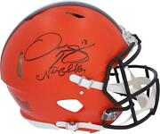 Nick Chubb And Odell Beckham Jr. Cleveland Browns Signed Authentic Helmet