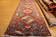 13 Ft. Long Hall Runner Top Quality Handmade Vegetable Dyed Wool Rug 2and0398 X 13and039