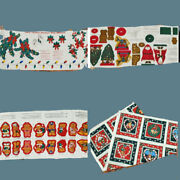 Vintage Christmas Patterns Material Ornament Kits Mixed Lot 1990s 1980s Bears