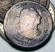 1797 Draped Bust Large Cent 1c Stems Full Date Good Early Us Copper Coin Cc7140