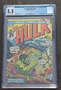 🔥incredible Hulk 180 🔑 1st Appearance Wolverinecameo🔥💎cgc 5.5💎
