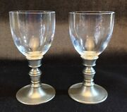 Match Pewter Caterina Pair Of Liquer Glasses New With Tags