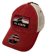 Zephyr Ncaa Nc State Wolfpack Landmark Curved Bill Washed Mesh Hat Brand Nwt