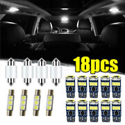 18x Car Interior Led Lights Kit For Dome License Plate Lamp Auto Accessories