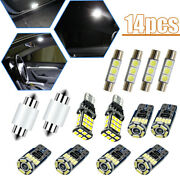 14x Car Interior Led Lights Kit For Dome License Plate Lamp Auto Accessories