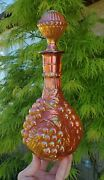 Electric Ruby Gold Imperial Marigold Grape Carnival Decanter Wine Bottle Genie
