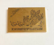 1949 Knights Of Babylon Gold Mardi Gras Compact New Orleans Collectible
