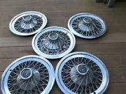 Wire Wheel Covers-hub Caps 1974 To 1979 Ford Thunderbird Group Of 5 Oem Used