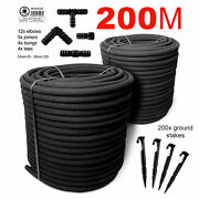 Special Set 200m Soaker Hose Leaky Garden Irrigation System Porous Pipe Recycled