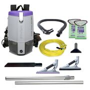 Proteam 107535 Super Coach Pro 6 Backpack Vacuum W/ 107532 Problade Toolkit
