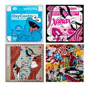 Ben Frost- Oxycookie/word Games/xanax/know Your Product - Blotter Full4set Rareandnbsp
