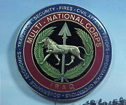 Multi-national Corps Iraq Enameled 2 Award For Excellence Bronze Challenge Coin