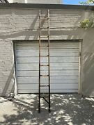 Rare Circa 1920s Collapsable Fire Department Wood And Metal Firemanand039s Ladder