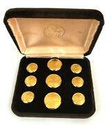 1812 24 Kt Palm Tree Gold Plated Buttons