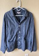 Wallace And Barnes Lightweight Chambray Shirt Chore Jacket Blue Xl Item H9465