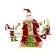 Mark Roberts 2013 And Older See-saw Santa And Elves Figurine, 25.5 Inches