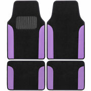 Carxs Carpet Floor Mats For Car Suv Truck Two Tone Color Pu Leather Trim Purple