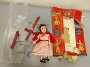 Vintage Hazelle's Red Riding Hood Marionette With Packaging