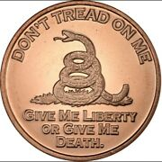 2dont Tread On Me1ozavdp.999 Pure Copper Roundsfree Airtites And Shipping