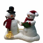 Hallmark 2003 Caroling Snowmen 1st In Series Animated Sings We Wish You A Merry
