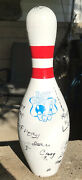 Vintage Happy Birthday Real Autograph Bowling Pin 15andrdquo