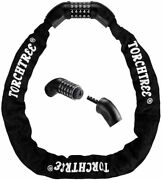 Bike Chain Lock, Bicycle Master Cable Lock With 5-digit Combination